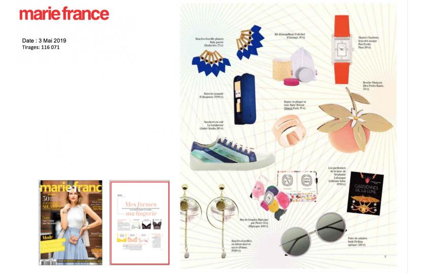 Notre bague Détour en plaqué or rose dans le magazine MARIE FRANCE